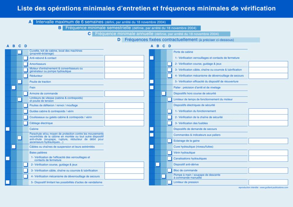 Carnet entretien ascenseur pour coproprietes source for Exemple contrat entretien espaces verts