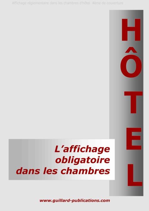 Hotel affichage obligatoire dans les chambres source for Chambre 13 dans les hotels
