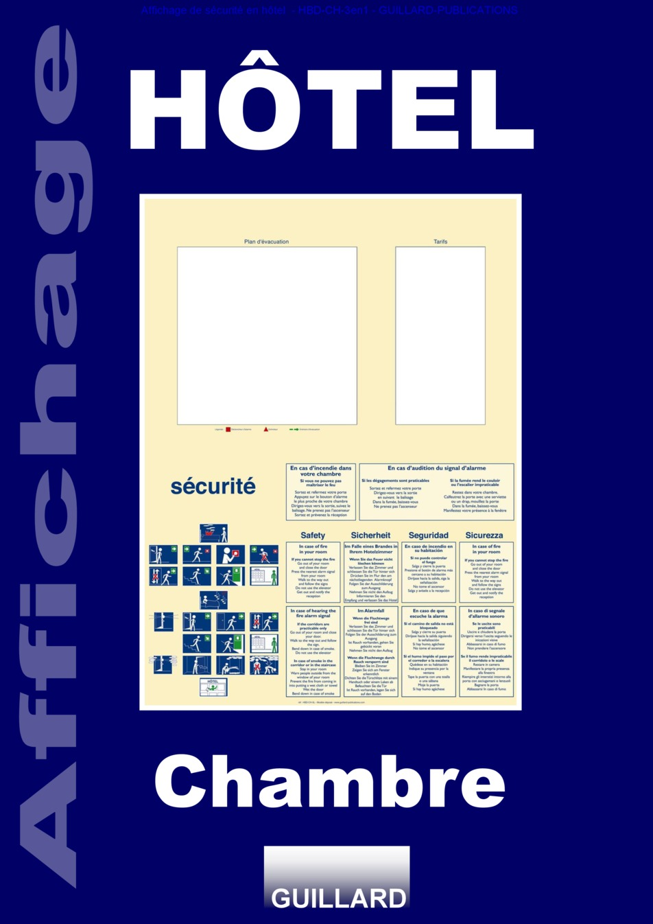 affichage de securite hotel chambre source www